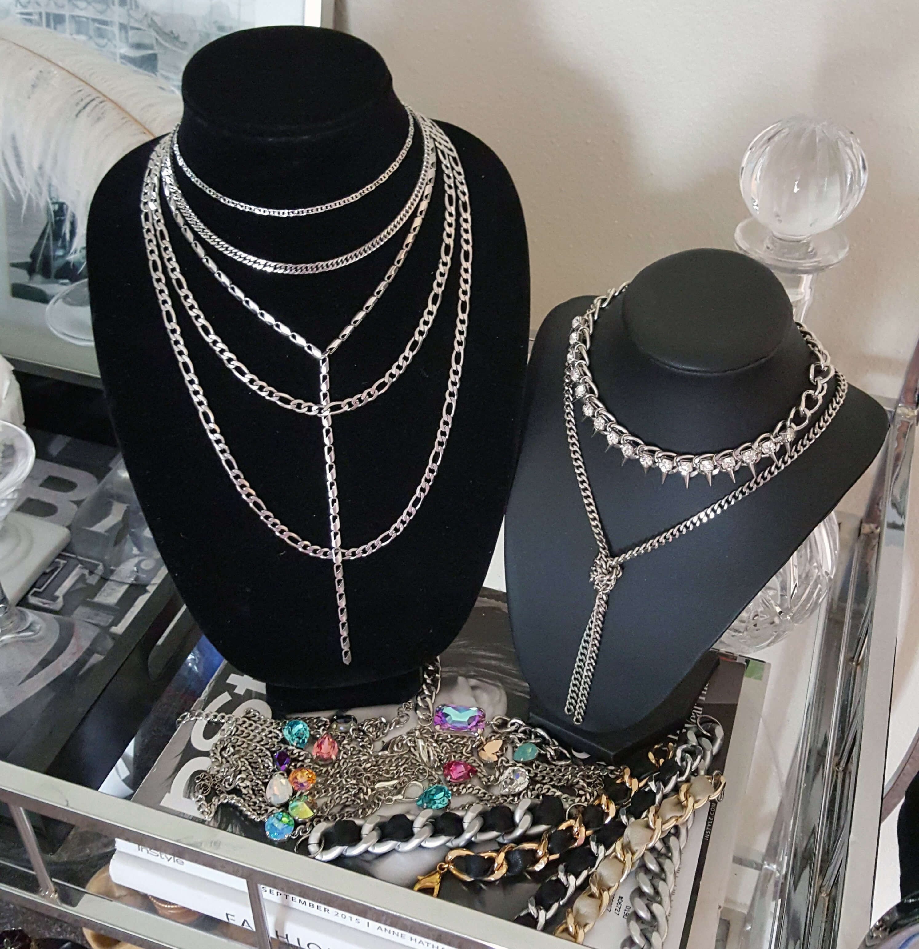 Stainless steel chain necklaces
