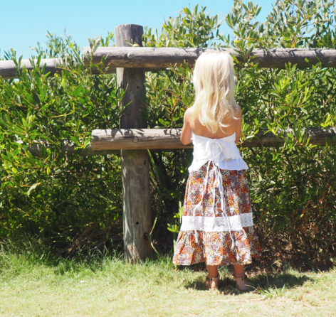 iluca the label: AUBREE MAXI SKIRT W/ CROCHET DETAIL- KIDS