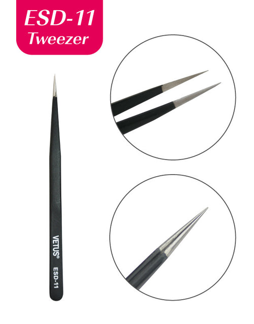 Misslamode ESD11 Anti-static tweezers for tools for extension eyelash and applicator - Misslamode