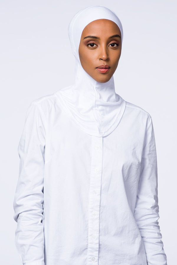 Hijab Underscarf | VOILE CHIC | White Full Coverage Underscarf