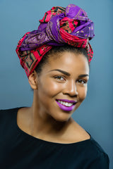 A Set of 2 Wax print  Head wrap (Best Sellers) - Glamorous Chicks Cosmetics