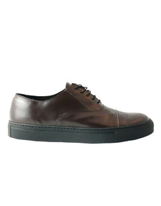 Harvey Lady cap toe Oxford brown sneakers