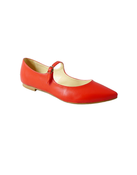 Red vegan Slip ons BellaStoria