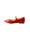 womens slip ons vegan red
