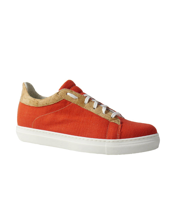 vegan red sneakers hemp&cotton