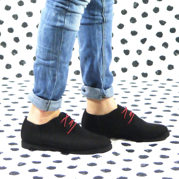 Margot suede oxford black