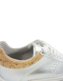 vegan sneakers silver cork bellastoria
