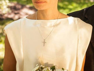 Ivory Silk Bridal Top with Cap Sleeves