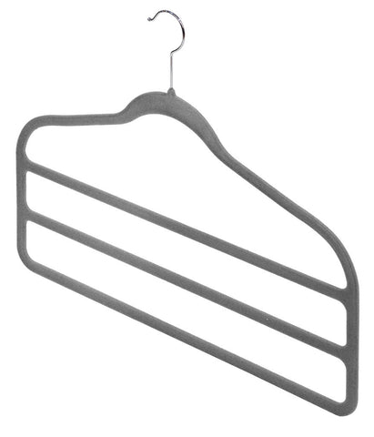 DomoPak 2pc Antislip Trouser Hangers Grey
