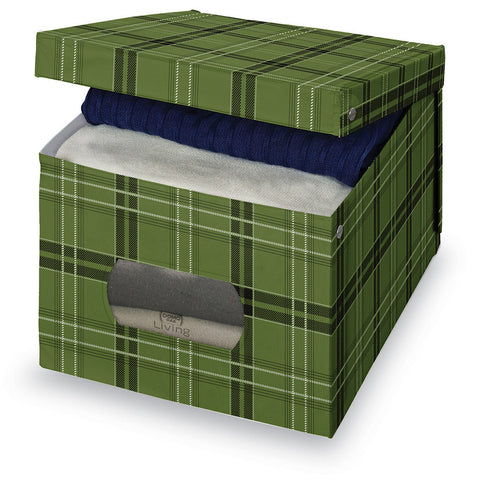 DomoPak Extra Large Garment Box Green Tartan