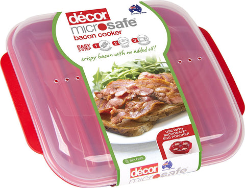 Microwave Bacon Cooker Plate - For Healthier Crispy Bacon - Cook Bacon Within Minutes