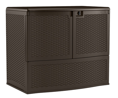Suncast 738 Litre Vertical Deck Box with Shelf