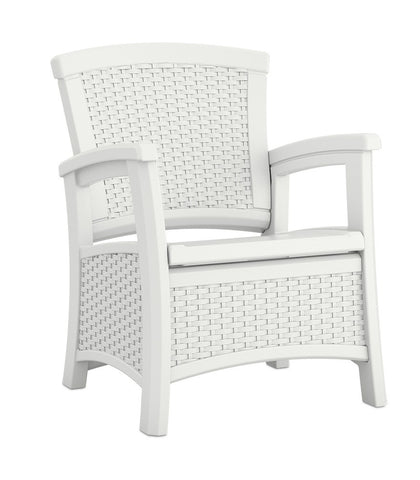 Suncast - Club chair with storage - White