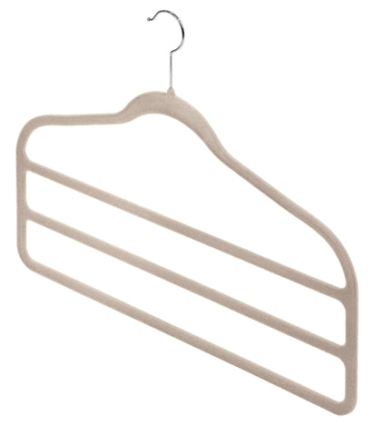 2pc Antislip Trouser Hangers Beige