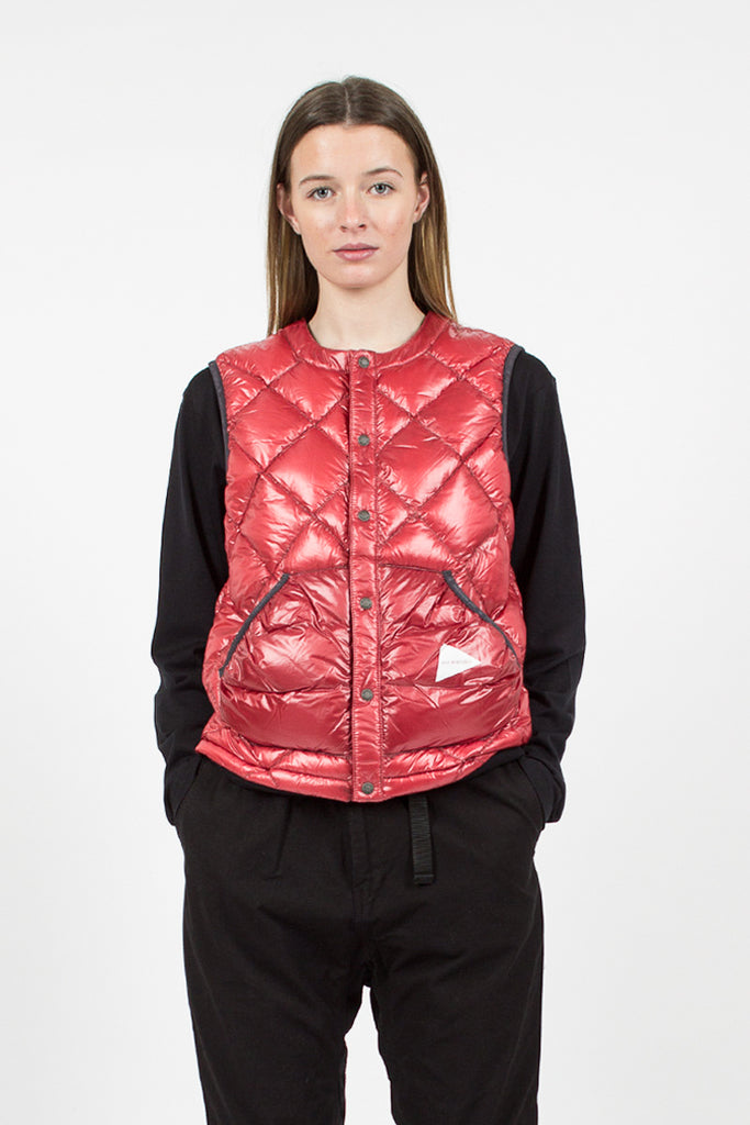 Red Diamond Stitch Down Vest