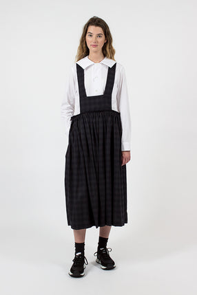 Tartan Pleated Midi Skirt