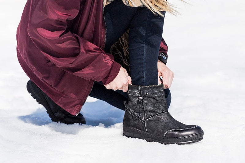 FANFARE in BLACK Cold Weather Boots