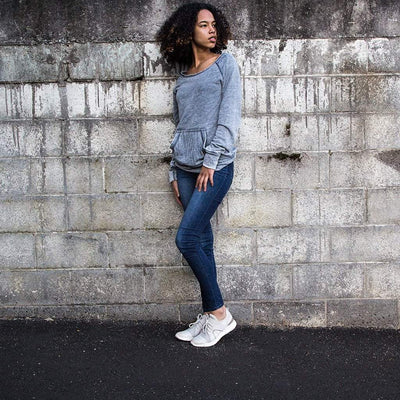 Womens sneaker transfer in dove grey