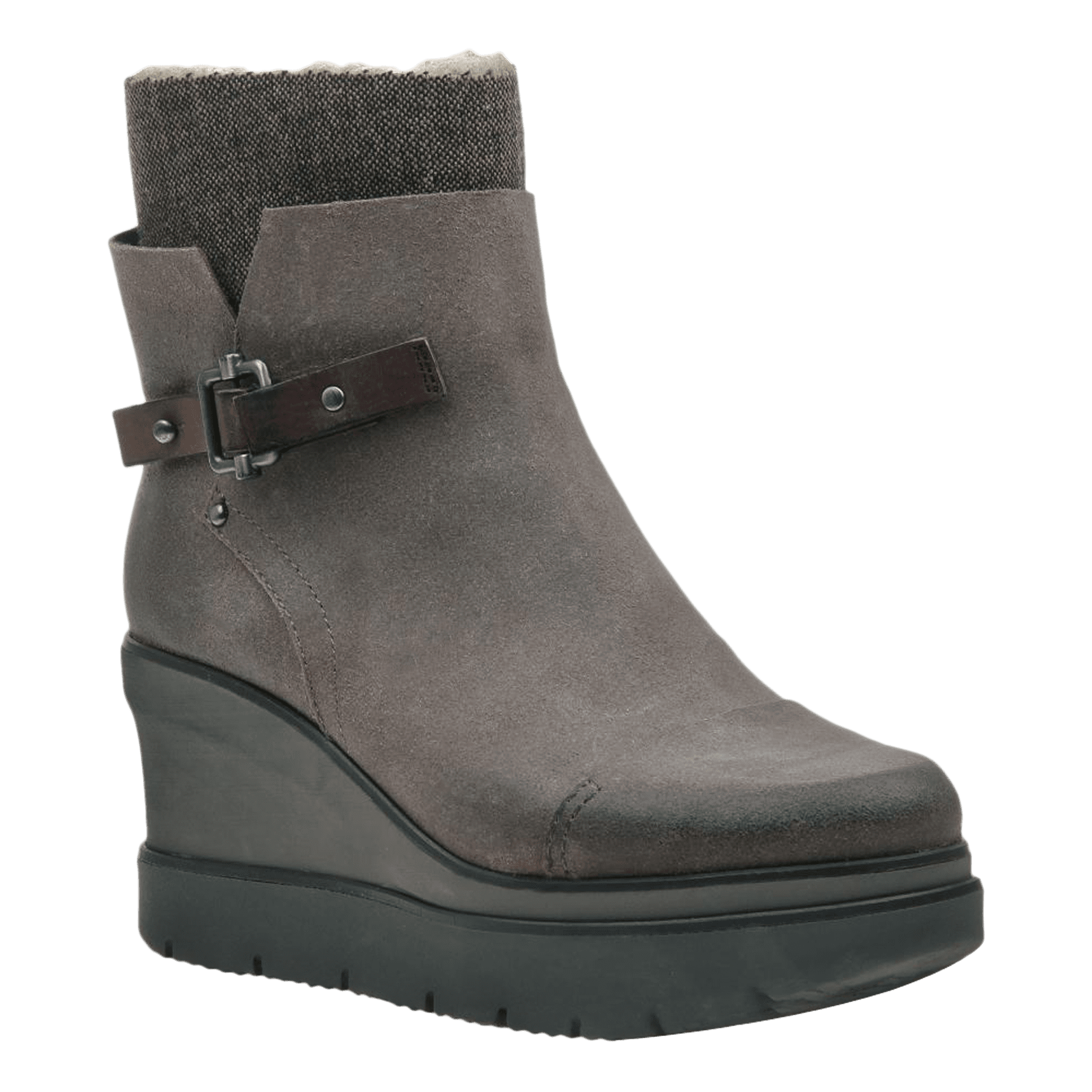 Womens ankle boot descend in charcoal grey