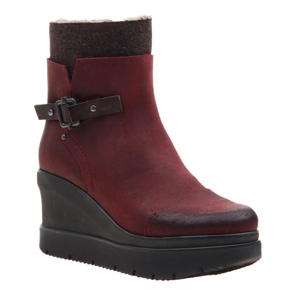 Womens ankle boot descend in Wine