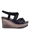 Womens wedge far side black side
