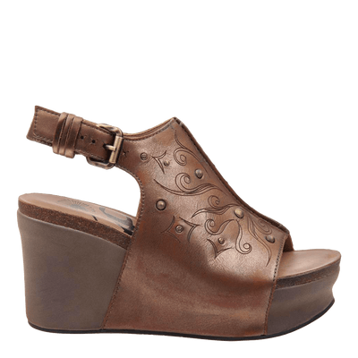 Womens wedge Jaunt ancient gold  side