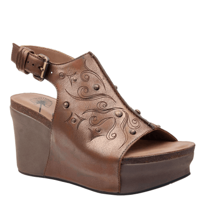Womens wedge Jaunt ancient gold