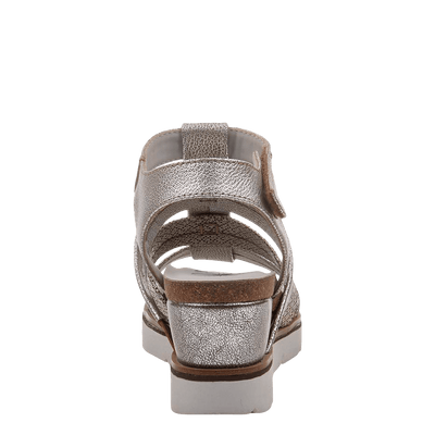 New Moon SilverWedge sandal back