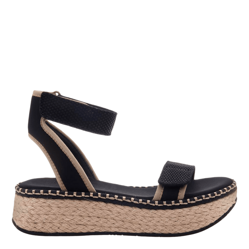 OTBT wedge sandal reflector in black