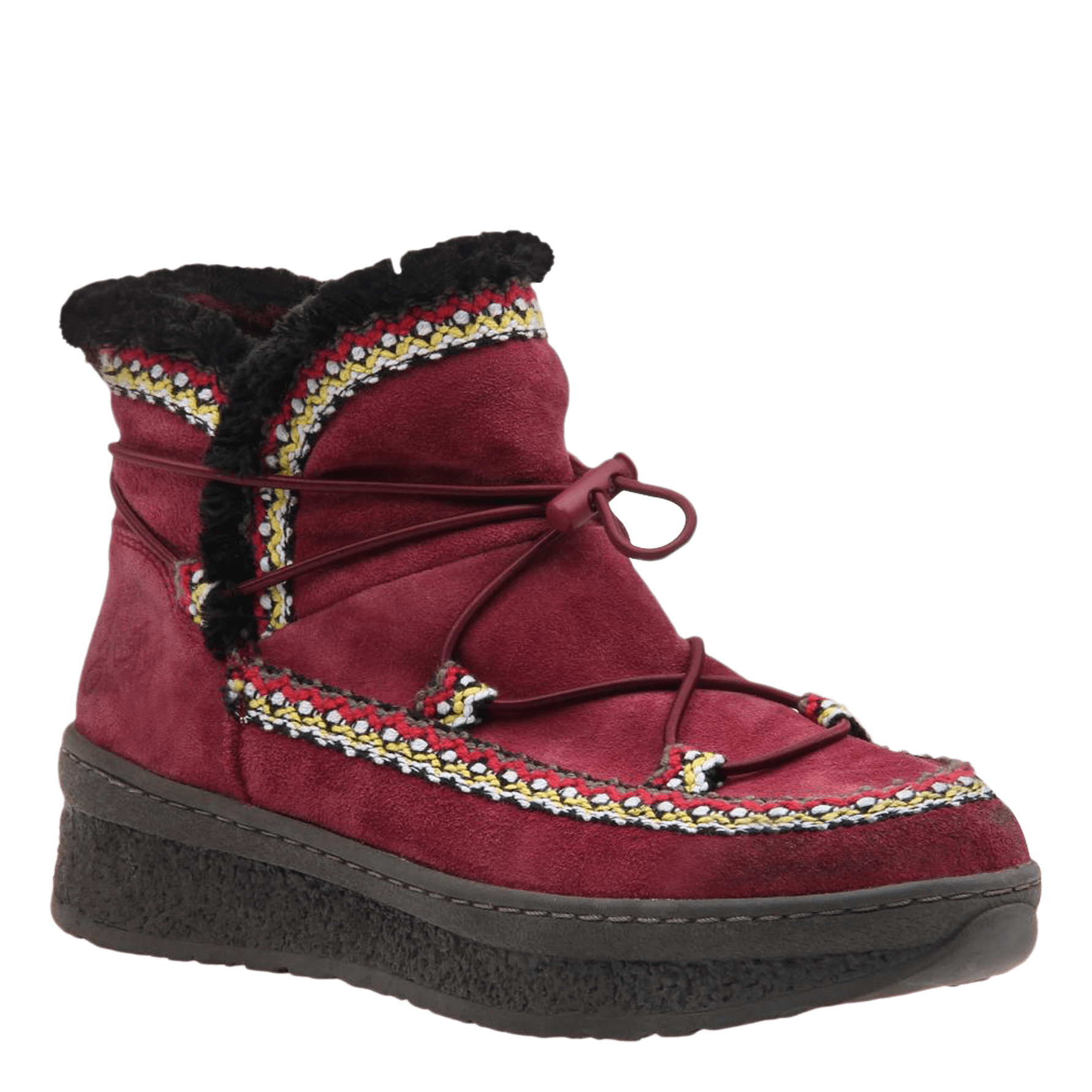 Womens cold weather boot Terreno in cherry
