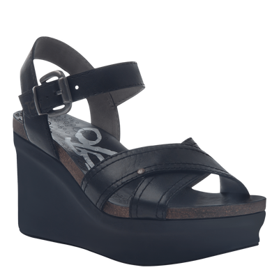 Bee Cave womens wedge in black original view
