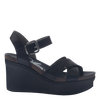 Bee Cave womens wedge in black side view