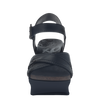 Bee Cave womens wedge in black front view