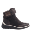 Women's cold weather boot the outing in dark brown outside view