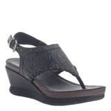 MEDITATE in BLACK Wedge Sandals