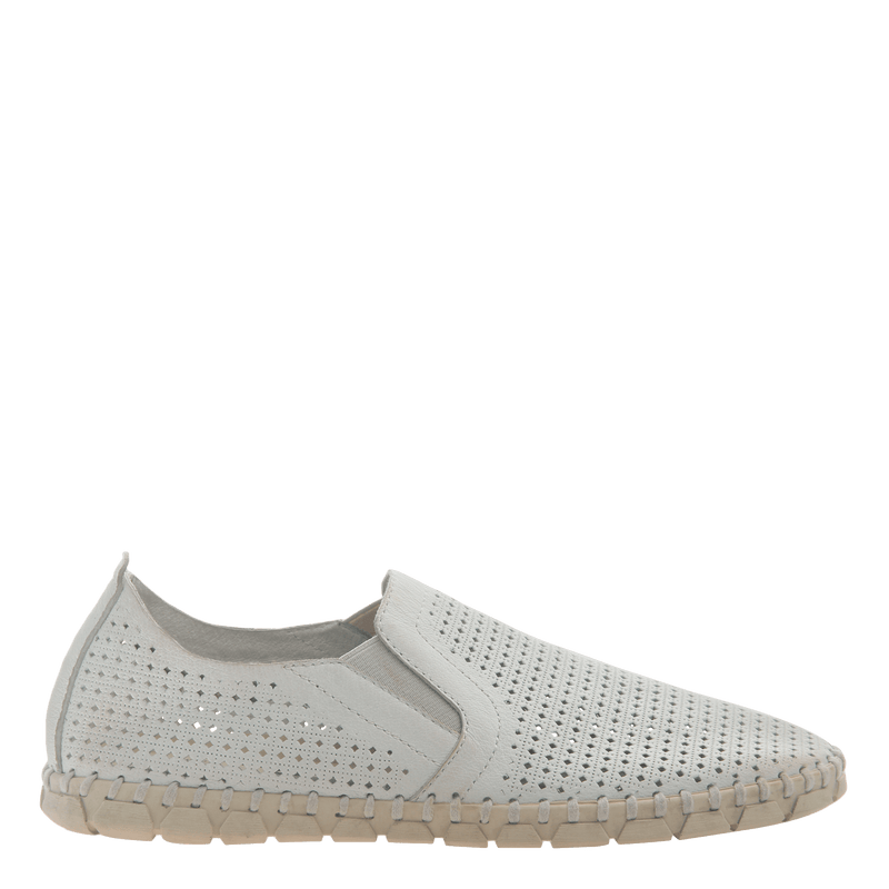 Womens light weight perforated sneakers Universe in White