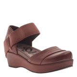 WANDER OUT in SANGRIA Closed Toe Wedges