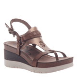 MAVERICK in DARK BROWN Wedge Sandals