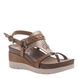 MAVERICK in NEW TAUPE Wedge Sandals