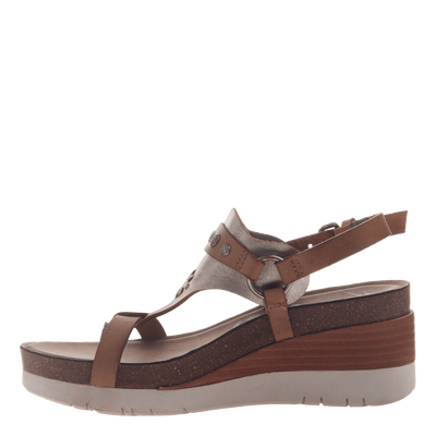 Womens maverick new taupe sandals inside view