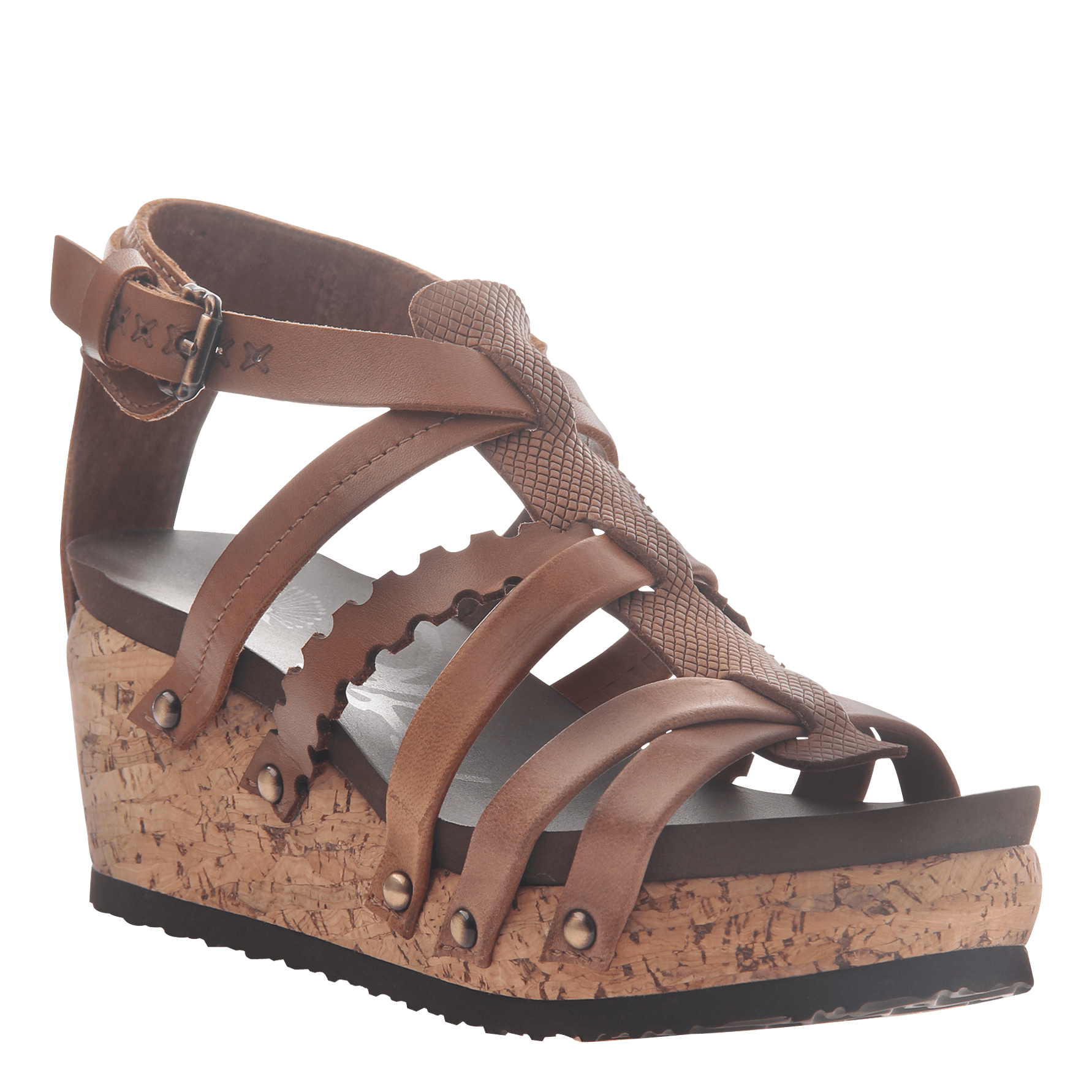 Womens wedge gladiator sandal storm in New Brown
