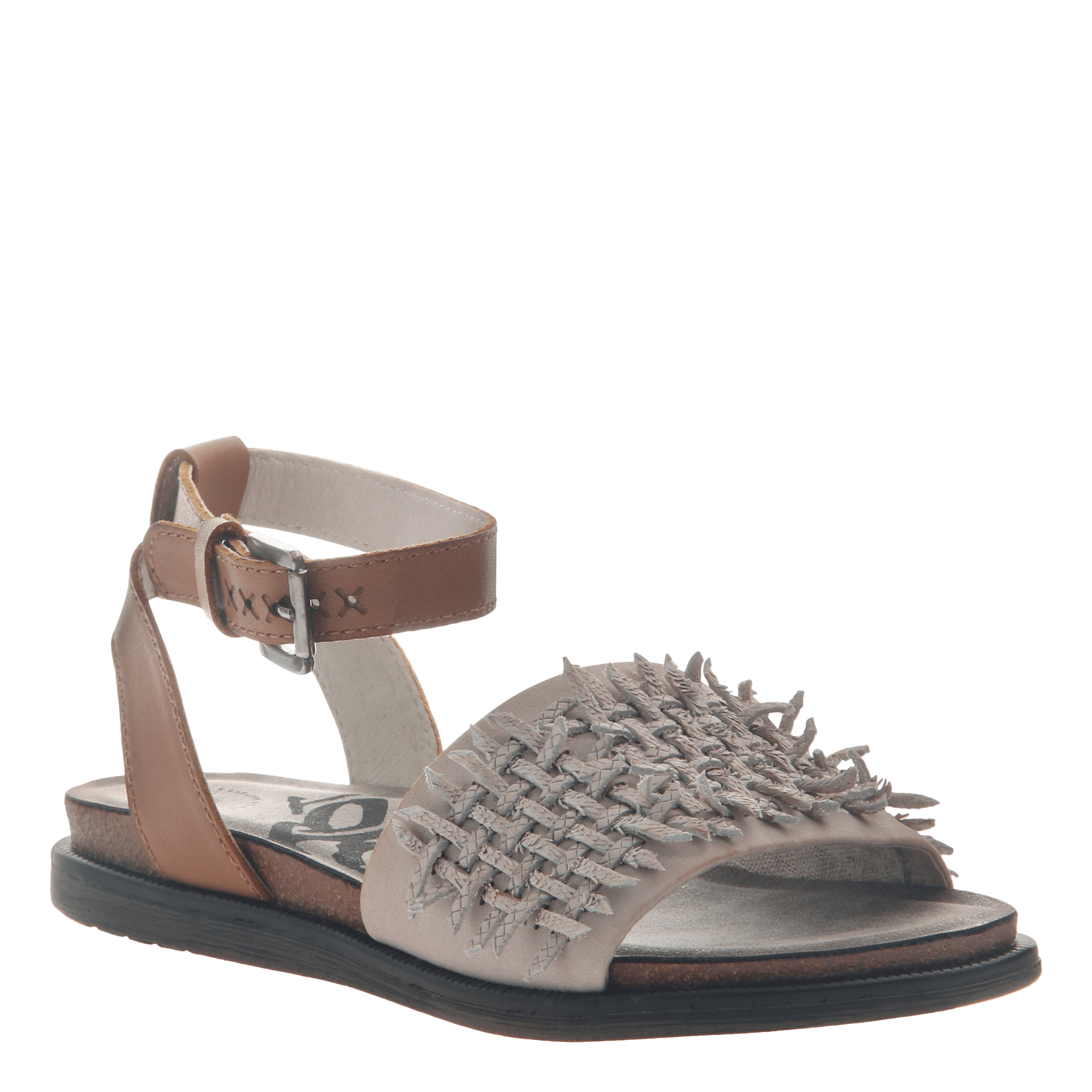 Womens flat sandal voyage in Dove Grey
