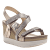 Womens wedge sandals wavey in gold