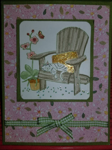 Tranquility Handmade Good Greeting Supply Card CLEARANCE