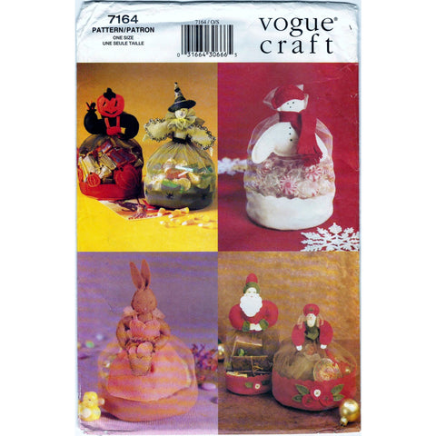 Vogue 7164 Non-Vin Pattern Craft Tool Holiday Gift Pouches