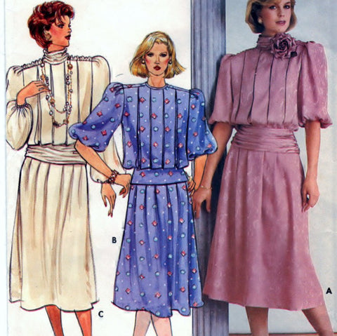 Butterick 3209 Pattern Vintage Misses Top and Skirt