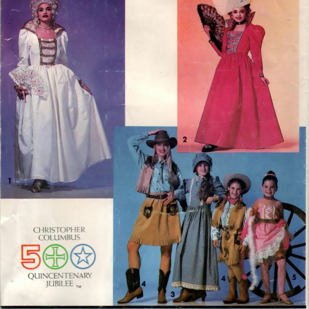 Simplicity 0614 Pattern Vintage Girls Historical Costumes