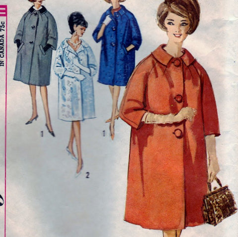 Simplicity 4669 Pattern Vintage Juniors and Misses Coat