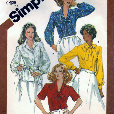 Simplicity 5387 Pattern Vintage Blouses In Half-Sizes
