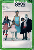 Simplicity 8222 Pattern Vintage Girls and Boys Costumes